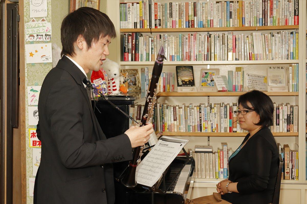 ピアノ&クラリネット 図書室カフェITOH